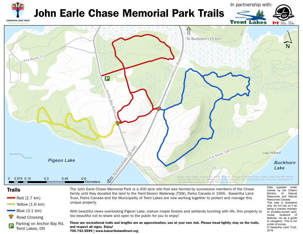 John Earle Chase Memorial Park Trails Map