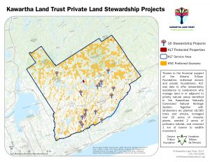 Stewardship Projects on Private Lands Map
